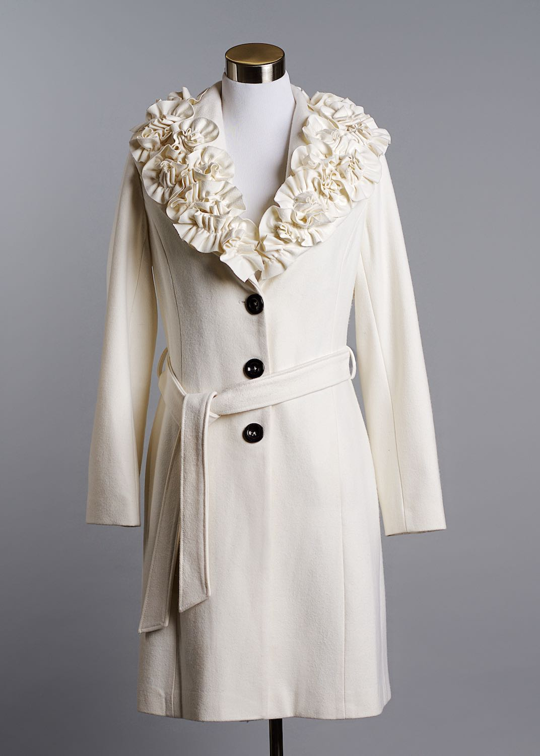 White floral collar coat by Bret Doss Commercial Product Photography Seattle